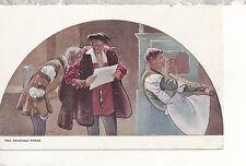 The Printing Press Mural   Library of Congress  Washington D.C.  WB Postcard 397