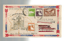 1938 Canada First Flight Cover FFC WHitehorse to Juneau to Ramallah  Palestine