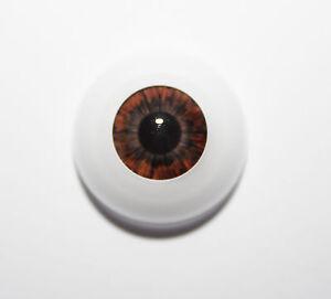 Reborn Secrist DARK BROWN Polymer Eyes x 1 pair HALF Round