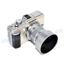 JJC Silver Lens Hood for Olympus M.Zuiko Digital MZD ED 45mm f/1.8 46mm (LH-40B)