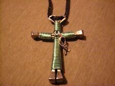 Ovarian Cancer Awareness Handmade Cross Necklace