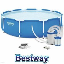Bestway 12ft x33in Steel Pro Frame Swimming Pool 7,480L w/ Filter + Pump + Cover