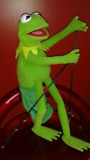 KERMIT THE FROG MUPPET FULL BODY  HAND PUPPET,PROFFESIONAL BLACK RODS & SLEEVE