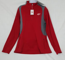 Antigua Women's Detroit Red Wings Red Quarter-Zip Pullover Jacket NHL Size Med