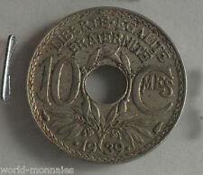10 centimes lindauer .1939. maillechort : TB : pièce de monnaie française
