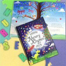 Personalised Childrens Modern Nursery Rhymes Hardback Educational Fun Story Book