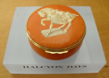 "Halcyon Days Tang Dynasty Tomb Horse - Ashmolean Museum Enamel Box - 2 3/8"""