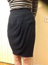Gorgeous! Karl Lagerfeld ~ Black 100% Wool Asymmetrical Dressy Skirt ~ EUR Sz.42