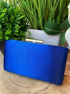 Royal Blue Pleated Occasion Clutch Bag Ladies Occasion Bags Wedding Guest