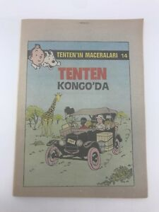 THE ADVENTURES OF TINTIN #14 1980s Turkish Comic Book VERY RARE Georges Remi