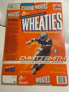Wheaties Cereal Box 18 oz. Emmitt Smith Cowboys All Time Rushing Leader