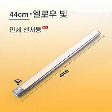 Hnlife 스마트 자동 센서 LED 센서등/ 난색+길이44cm /알루미늄 합금 재질USB 충전식 휴대용/자석식 조명