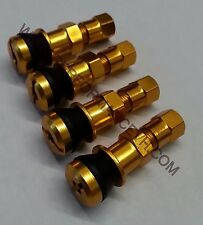 4pc. Gold Light Weight Racing Aluminum Valve Stems Turbo Drift Stance Wheel