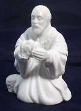 Avon White Porcelain Nativity Figurine The Magi Melchior Box Collectible 1982