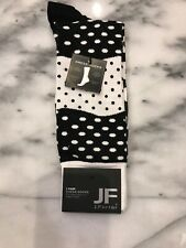JF J.FERRAR Men's Dress Socks Mixed Dots Fun Pattern Size 10-13 NWT