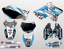 KIT ADESIVI GRAFICHE GAMBLING WHITE SUZUKI RM 125 250 2001 - 2002  DEKOR DECALS