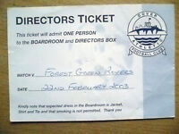 Tickets/ Stubs- 2003 DOVER ATHLETIC v FOREST GREEN ROVERS, 22 Feb