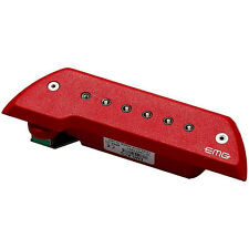 EMG ACS Acoustic Guitar Pickup with Chrome Poles (Red)
