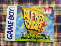 Alfred Chicken - Authentic - Nintendo Game Boy - Manual Only!