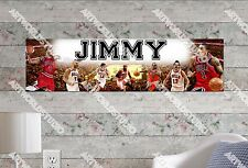 Personalized/Customized Chicago Bulls Name Poster Wall Art Decoration Banner