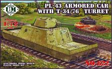 1/72 Wwii Pl-43 armored car with T-34/76 turret Ummt622 Models kits