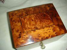 Jewerly Box Thuya Wood Locked With key