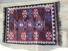 Turkish Wool Rug 60 x 90cm 2' x 3'  Handmade geometric design