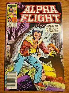Alpha Flight #13 Newsstand Byrne Wolverine Cover Key VF- 1st Print X-men Marvel