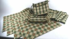 Park Designs 10 Pc Placemat Napkin Basket Set Green Checkered