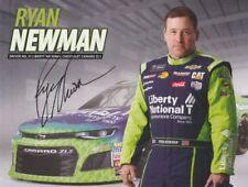 2018 Ryan Newman signed Liberty National Chevy Camaro NASCAR MENCS postcard