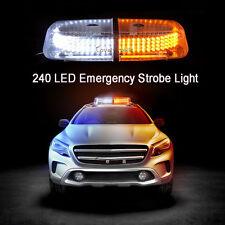 NEWEST 240LED Car Magnetic 3K Amber 6K White Truck Strobe Flash Light Warning