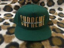 "New Supreme Global 5 Panel ""Green"" snapback cap FW18 WORLD FAMOUS"