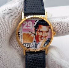 ELVIS, Stamp Watch, Round Dial, Hi End French Leather Band, UNISEX WATCH,//#186