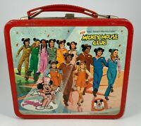 VINTAGE 1970s Aladdin Metal Disney Mickey Mouse Club Metal Lunchbox Disney AS-IS