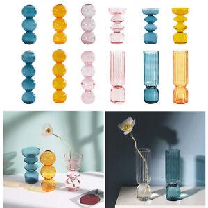 1pc Nordic Style Glass Flower Vase Planter Hydroponic Plants Decoration Tabletop