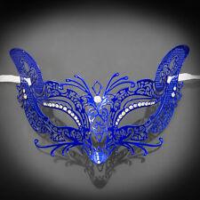 Fox Foxy Cat Venetian Halloween Costume Masquerade Mask Blue M7108