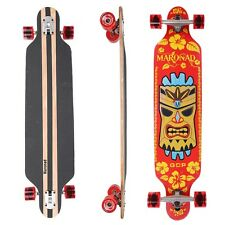 "MARONAD ® Longboard Skateboard 41"" DROP THROUGH Board ABEC 11 Komplett HAIWAII"