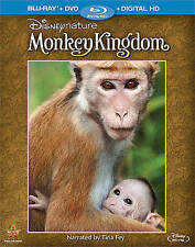NEW Disney Nature: Monkey Kingdom Blu-Ray DVD Sealed SS Tina Fey