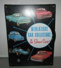 VINTAGE 1966 MATTEL 48 CAR MINIATURE CAR COLLECTOR CASE HOT WHEELS  LOOK!!!