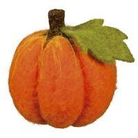 Small Felt Pumpkin Autumn Fall Halloween Cute Holiday Retro Decor Collectible