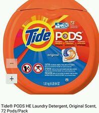 Tide Pods original Scent Laundry Detergent Pacs 72 ct