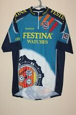 Festina Watches Sibille France Blue White cycling team Vintage jersey size L