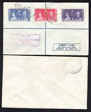 Solomon Islands 1937 George VI Coronation Registered Cover to NSW SG57/8/9