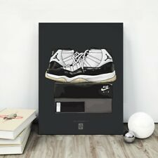 Air Jordan 11-Poster, Cool Grey, SPACE JAM, UNC, Concord, phases finales, BRED