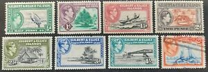 Gilbert &Ellice Islands 1939-55, 8x stamps mh & used