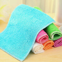 1 Pc Highly Bamboo Fiber Kitchen Hand Towel IN Stock Dish Cloth Rags Set _WBLCA