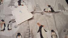 NEW Pottery Barn Kids GREY Winter PENGUIN Standard FlanneL SHAM gray