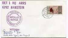 1975 Apollo Soyuz Cinceur Ramstein Recovery Control Center Captain USA SIGNED