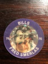 1984 7-11 Slurpee Football Coins/Discs Buffalo Bills Fred Smerlas
