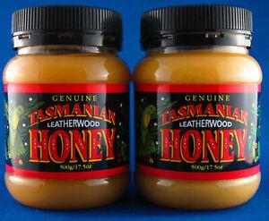 Tasmanian Leatherwood Honey, 2*500gms jars, free shipping, Finest export quality